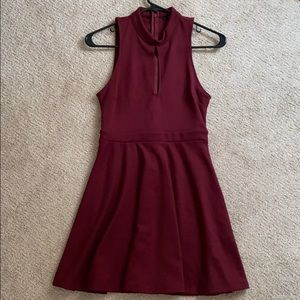 Forever 21 Cotton Maroon Dress